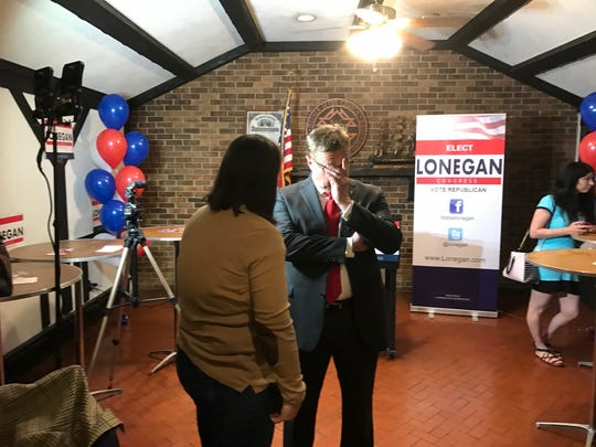 Steve Lonegan on Primary night as the results are coming in.