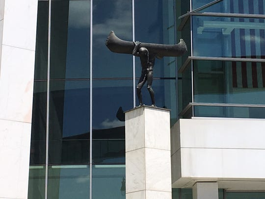 "Carl Milles' ""Spirit of Transportation"" was recently"