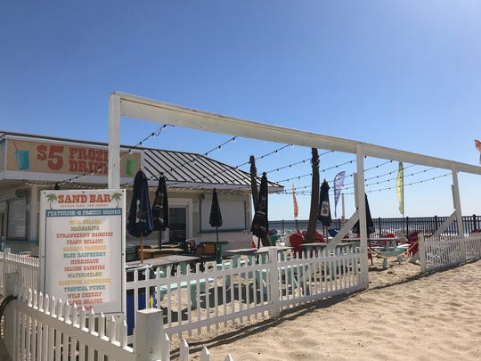 At Sand Bar in Seaside Park, enjoy a frozen drink on the sand.