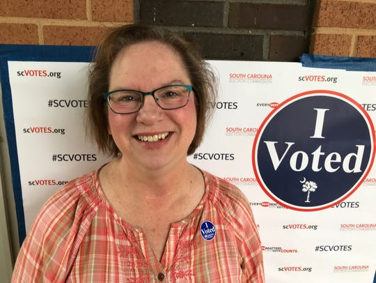 Nancy Griffeth voted in the Democrat Primary at East