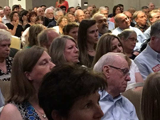 Standing-room-only crowd packs Parsippany Sheraton for convention to choose a new Morris County Republican party chairman on June 12, 2018.