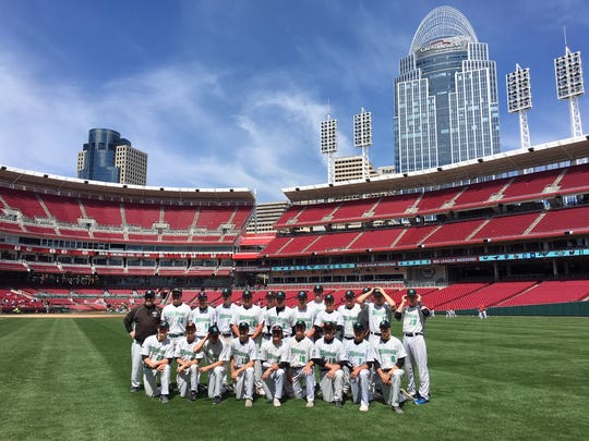 Harrison's 2018 varsity baseball team pictured at Great American Ball Park.