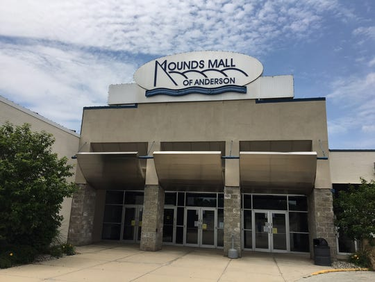 A former entrance to Mounds Mall in Anderson.