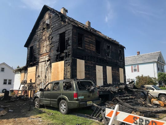 A two-family home on Union Avenue was destroyed in