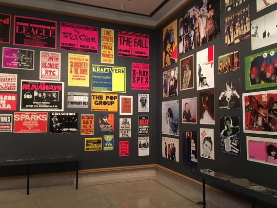 "Punk performance posters fill one gallery in ""Punk"