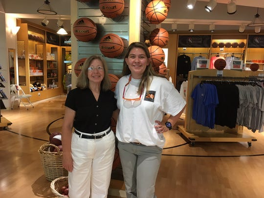 "Donna Maxwell and Kristina Cloer are looking forward to having the Women's Basketball Hall of Fame overrun with Waldo fans and their parents. ""The staff has a really good time hiding him,"" says Maxwell."