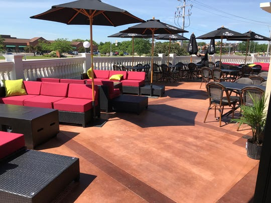 The second-floor patio at Casablanca West has lounge