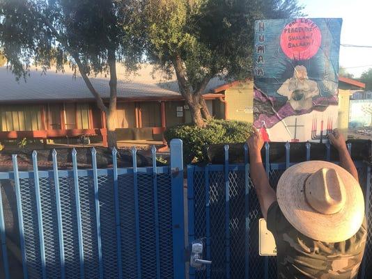 Dozens protest family separations in Glendale