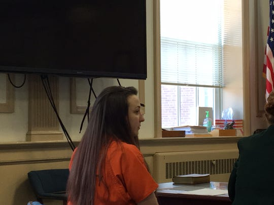 Amanda Hartle at her guilty plea in Superior Court,