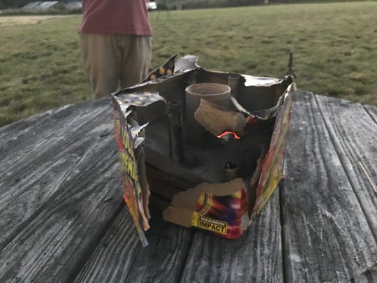 The aftermath of a Solar Supremacy firework.