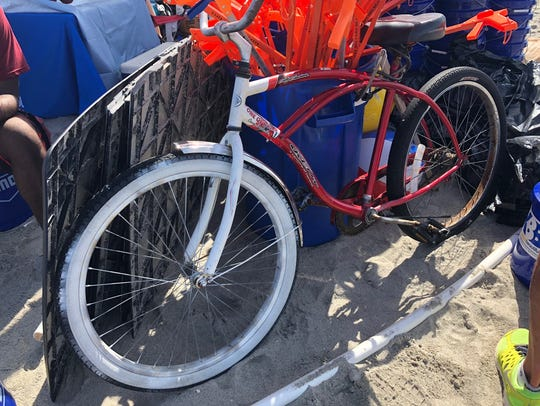 This bike was found at the beach at Lori Wilson Park