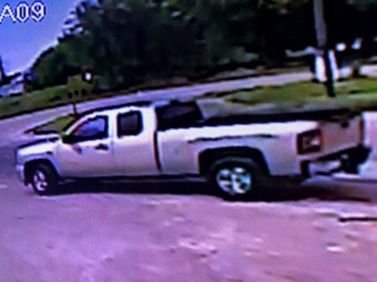 Sheriff detectives want to speak with the man driving this truck.
