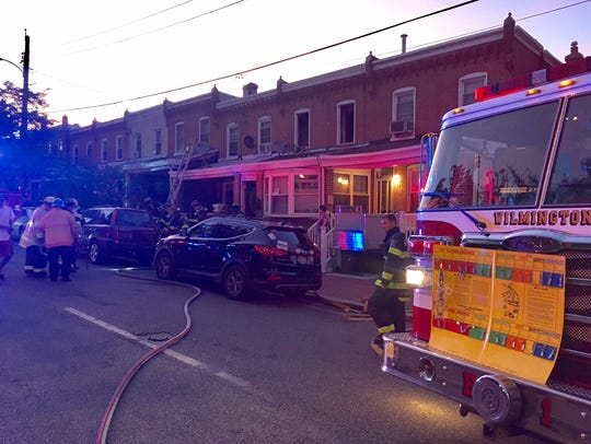 Wilmington firefighters respond to a fire Tuesday morning