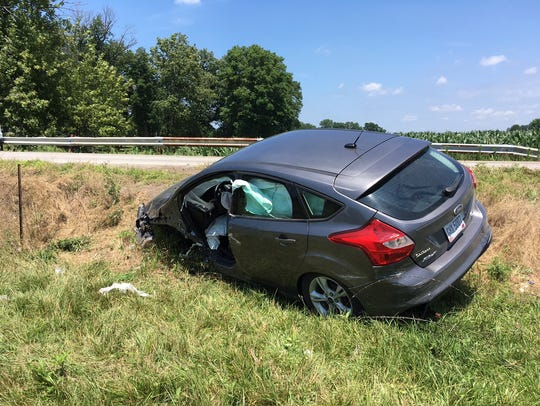The driver of this vehicle, a 2014 Ford Focus, was