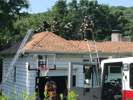 A fire broke out on Daniel Road in North Salem Sunday.