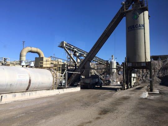 Vulcan Materials' has a hot-mix asphalt plant at its
