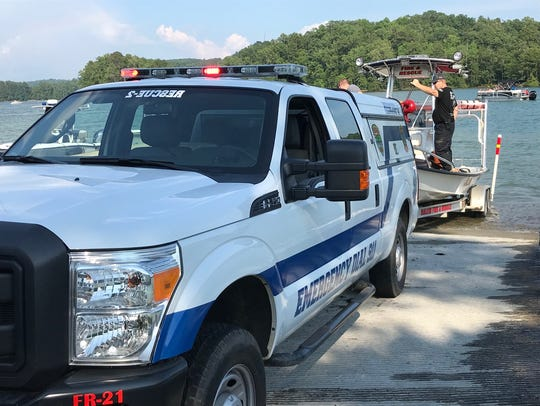 The scene of an apparent drowning at Lake Keowee, Wednesday,