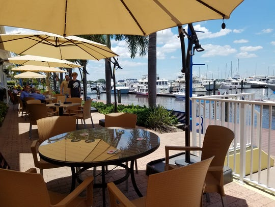 Sailor's Return's outdoor dining area has a great view.