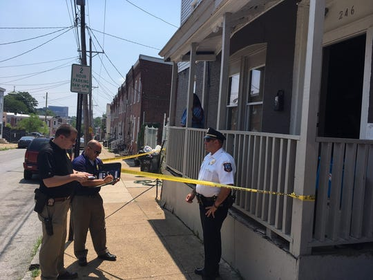 Wilmington police investigate a stabbing on Franklin Street on Wednesday morning.