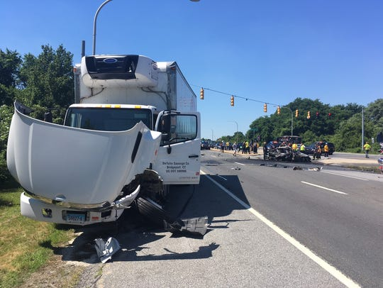 A grand jury on Monday indicted the box truck drivercharged in July for causing a deadly, fiery crash on U.S. 13 for second-degree vehicular homicide.