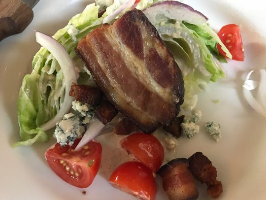 A dining pal and I split the wedge salad at Houston-White