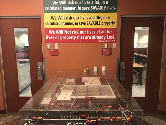 A scale model of the Southwest Supermarket fire that