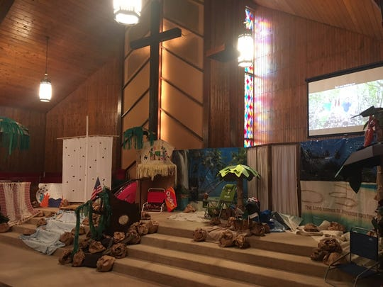 Fellowship Presbyterian was decorated for the shipwreck theme for Vacation Bible School.