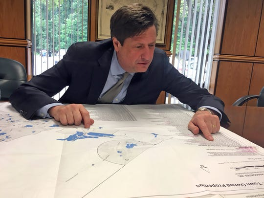 Ramapo Supervisor Michael Specht talks about the town's finances and a proposals to sell some of the town property at his office in Town Hall July 13 2018.