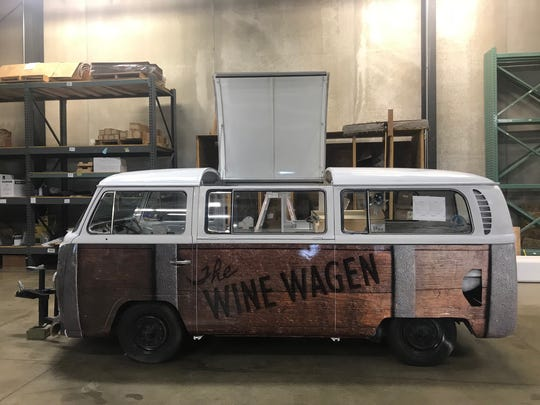 The Wine Wagen, a mobile wine bar, was made from a