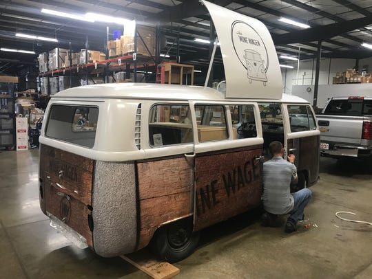 The Wine Wagen, a mobile wine bar housed in a 1978
