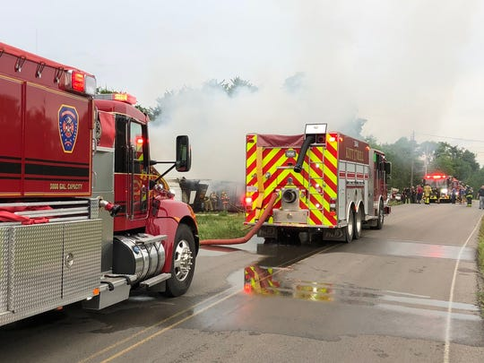 Rutherford County Fire and Rescue crews responded to