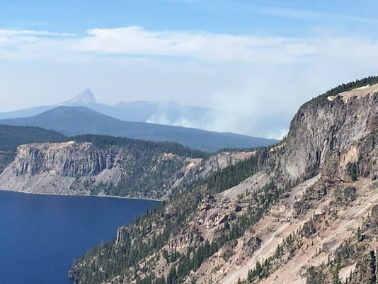 Timber Crater Lake Fire