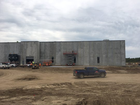 The exterior of the $40 million Gage Brothers precast concrete manufacturing facility under construction in northeast Sioux Falls.
