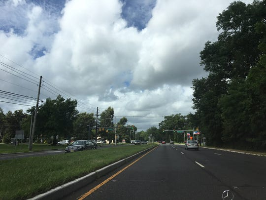 The intersection of Route 38 and South Church Street can be seen from a view on Route 38 West. A proposal is on file for a developer to build a Royal Farms convenience store right in the area with Fellowship Road meets South Church Street and Route 38.