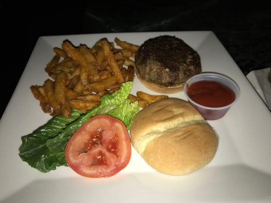 The burger and fries at Lace