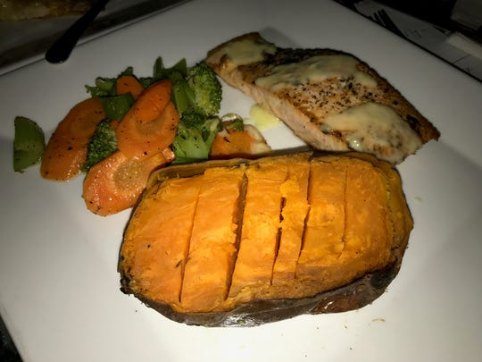 The food is affordable at Lace: here a salmon with