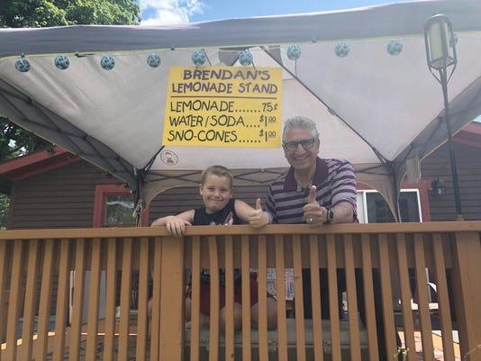 Boy's lemonade stand