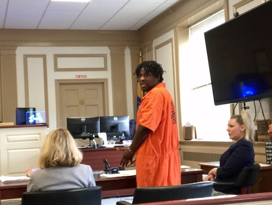 Melvin Hester at his sentencing July 31, 2018 for assaulting
