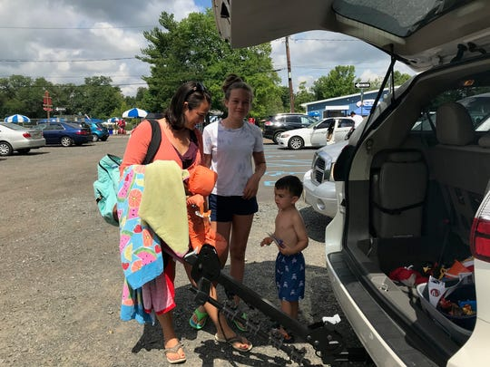 East Brunswick resident Laura Sordillo visitedthe Crystal Springs Family Waterpark on Tuesday with her three-year-old and 12-year-old children.