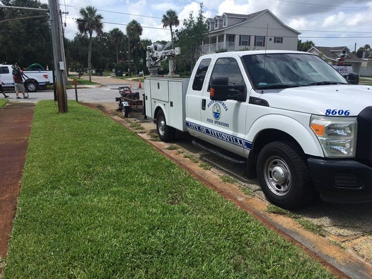 Scene near Indian River Drive and South Street in Titusville