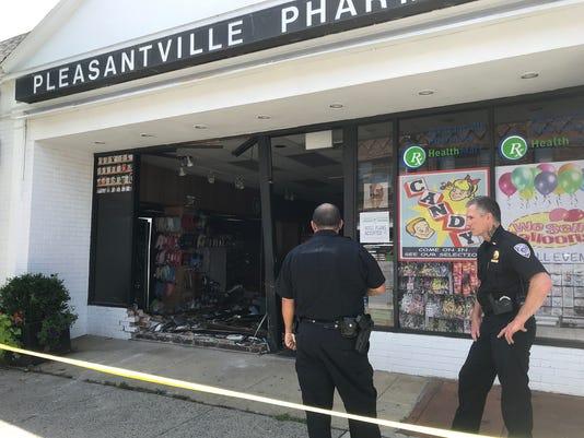 Car slams into Pleasantville Pharmacy