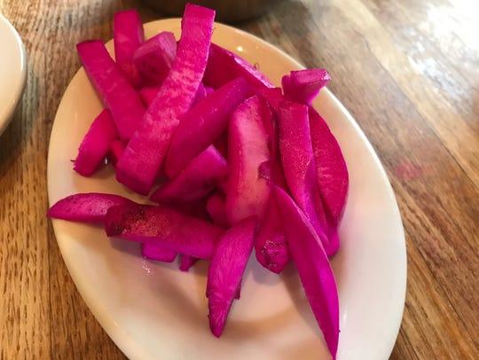 Pickled radish.