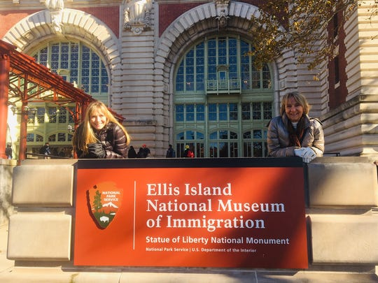 Katherine Crawford's mother and sister at Ellis Island