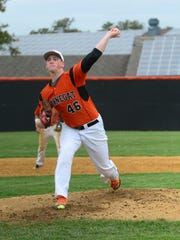 Barnegat pitcher Jason Groome throws against Pinelands