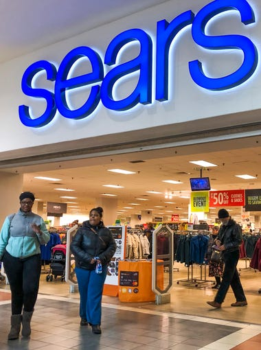 Customers shop at a Sears department store in Riverside, IL.  Dec 2018. The 125 year old institution employees 68,000 people has been in bankruptcy since October 2018.
