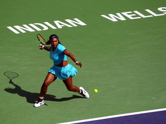 1999 and 2001 champion Serena Williams plays 2012 champion Victoria Azarenka of Belarus in the women's final Sunday, March 20, 2016, at the BNP Paribas Open in Indian Wells, Calif. Azarenka won in straight sets, 6-4, 6-4.