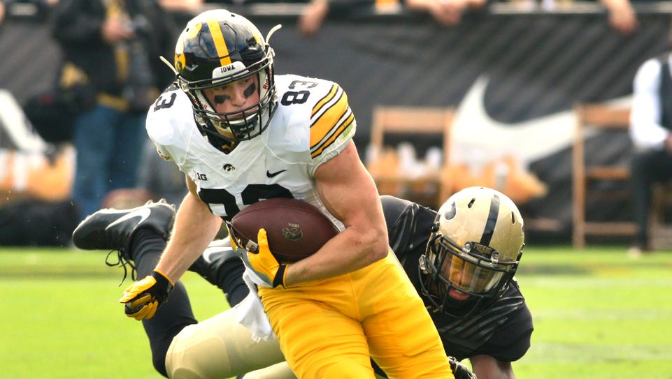 Iowa's Riley McCarron leads the 2016 receiving corps