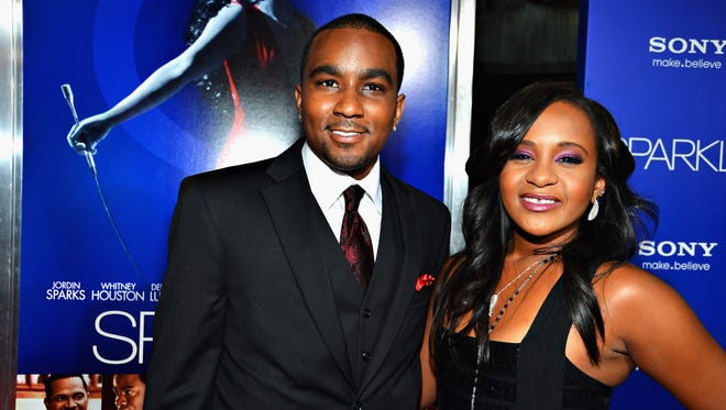 Nick Gordon and Bobbi Kristina Brown in August 2012 in Hollywood.
