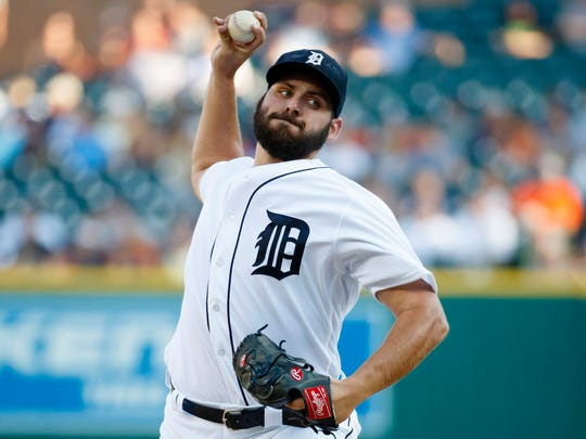 Tigers rookie Michael Fulmer pitches against the Chicago White Sox at Comerica Park on Aug. 3, 2016.