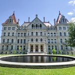 The New York State Capitol Building in Albany. A package of bills working its way through the Legislature would beef up crimes and treatment connected to heroin use.
